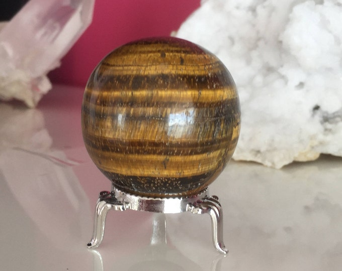Tigers Eye Crystal Ball, Gazing Sphere, Altar Tool