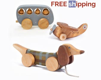 Wooden Toys,  FREE SHIPPING toys, Wooden Kids toys, Classic Toys, Christmas Gift for Kids, Natural Wood Toys,