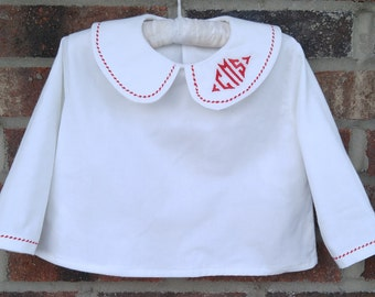 Boy's Peter Pan collar shirt made to order 3m to boys 10