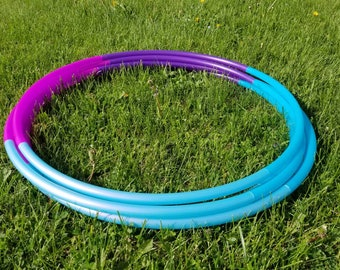 """Unicorn Berry Ombre 4 Tone Polypro Hula Hoop 3/4""""or 5/8"""" Collapsible for Travel- Push Pin Connection"""