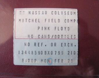 Pink Floyd 1980 The Wall Tour Nassau Coliseum Full 1/2 Concert Ticket Scarce
