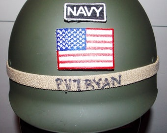 Pick of 9, Army helmet, ABS polymer, size adjustable, OD in color, full liner, leather strap, helmet band, pick of front patch,unbreakable,