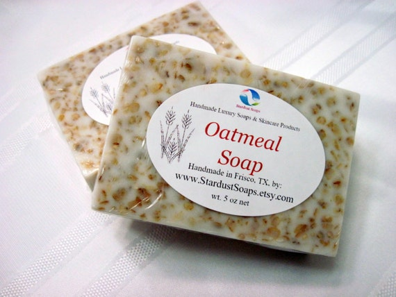 Oatmeal Bar Soap (handmade, natural, soothing, gentle soap, for sensitive skin, aromatic, packaged, excellent bar soap) 5 oz net