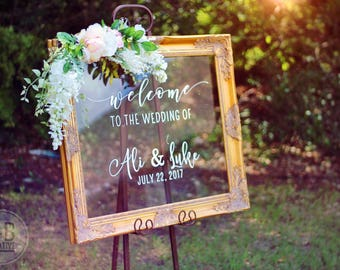 Custom Acrylic Wedding Welcome Sign / welcome to our beginning / handlettered