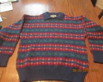 Awesome Vintage Pure Wool Sweater Made in Britain Craftcentre Cymnu Gwynedd Wales