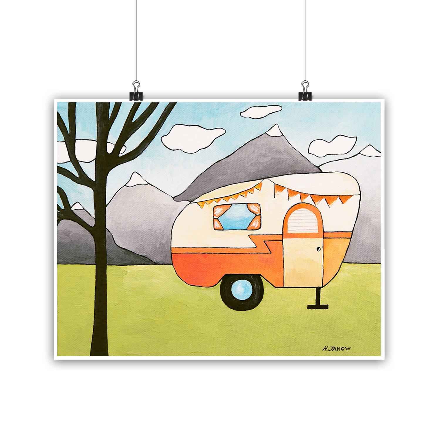Camper Art RV Wall Art Camper Print Camping Decor RV Wall
