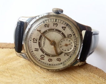 Vintage Soviet watch Pobeda . Mechanical watch. wrist watch Vintage Watch, USSR watch Pobeda.Soviet Watch