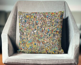 Wheres Waldo Gift   Wheres Waldo Pillow   Wheres Wally Pillow   Wheres Wally Gift   Fun Pillow   Novelty Pillow   Novelty Throw Pillow