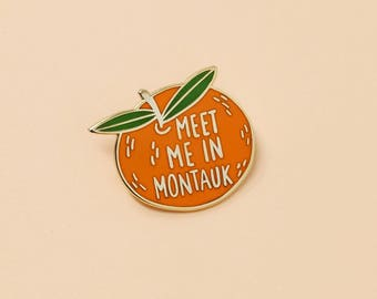 Clementine Enamel Pin | Hard Enamel, Lapel Pin, Flair, Fruit Enamel Pin, Meet me in Montauk, Eternal Sunshine of the Spotless Mind