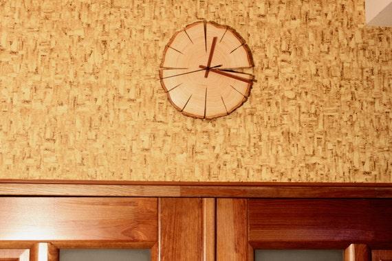 Rustic alder Slice Wall Clock / Natural Wall clock / log Clock