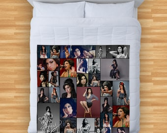 Amy Winehouse Colourful Montage Design Soft Fleece Blanket Cover Throw Over Sofa Bed Blanket