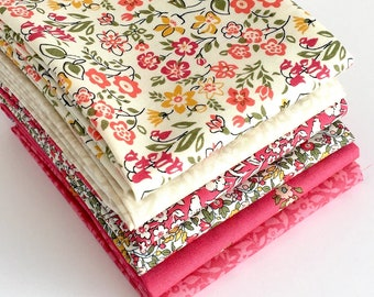 Quilting Fat Quarter Bundle in Pinks - 6pc - Liberty of London Quilting Cotton