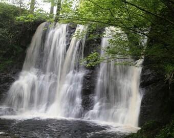 Ireland Photography, Irish Art Print, Ireland Landscape, Home Decor, Waterfall Art, Green, Waterfalls - The Queen of the Glens Waterfall