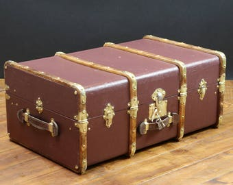 R2266 purple - Burgundy with key fitted cabin trunk