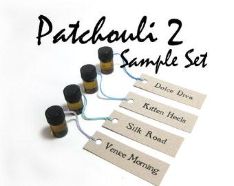 Patchouli #2 Sample Set Perfume Oils - velvety, earthy goodness . . .
