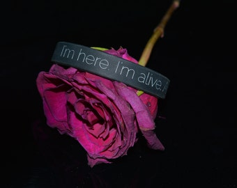 I'm here. I'm alive. And I'm trying. Bracelet :)