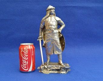 Large Solid Sterling Silver Garrards Figure of Saladin - London 1992- 2.7kg - Arabic Arab Islamic Islam - Sultan Egypt Syria Middle East