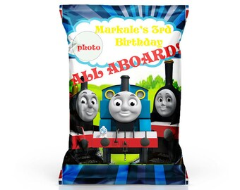 Thomas the train chip bags, Thomas the train and friends Personalized, printable chip bags, and party printables