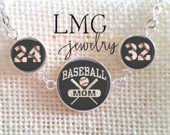 Baseball Necklace, Baseball Jewelry, Mother's Necklace