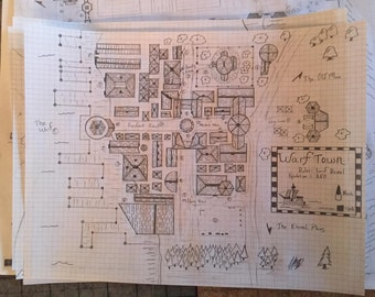 Custom Hand-Drawn RPG Maps