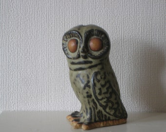 Owl Money Bank by Tremar Cornish Pottery