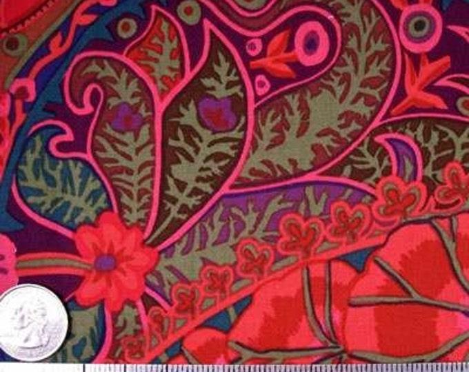 Kaffe Fassett PAISLEY JUNGLE Rust Red GP60 Quilt Fabric - by the Yard, Half Yard or Fat Quarter FQ