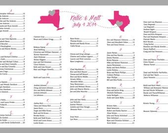 Map Wedding Seating Chart Printable, Custom Seating Chart, Seating Poster, Wedding Reception, Reception Seating Template