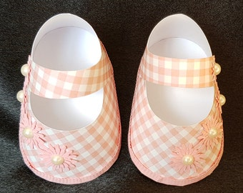 Set of Handmade paper shoes favors