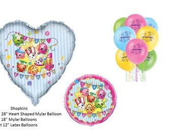 Shopkins Balloon Set