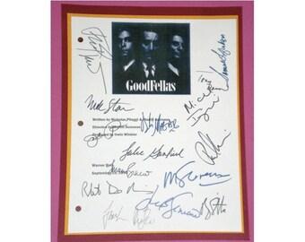 Goodfellas 1990 Movie Script Signed Autographed Martin Scorsese, Ray Liotta, Robert De Niro, Lorraine Bracco, Paul Sorvino