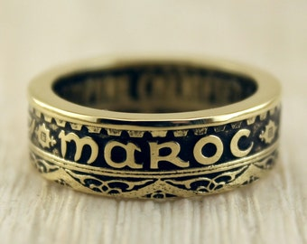 "Coin ring ""Morocco - 1371"" (50 francs)"
