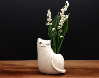 kitty cat vase ONE / bud vase / air plant vase / cream and sugar / price for one kitty cat