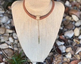 Suade or leather chokers