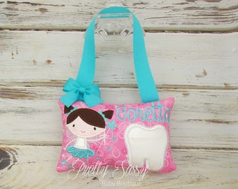 Tooth Fairy Pillow, Personalized Tooth Pillow, CUSTOMIZE: Fairy's Hair and Eye color, Tooth Fairy Chart, Tooth Fairy Kit, Fairy Letter, Gift