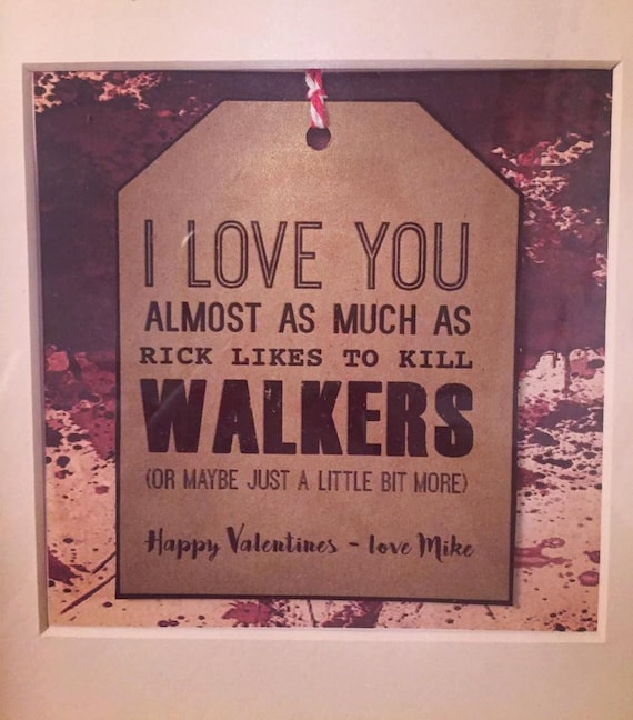 Items similar to Walking Dead Box Frame - Valentines on Etsy
