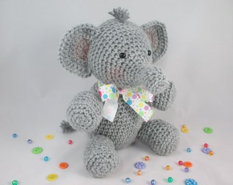 Crochet Stuffed Elephant, Elephant Plush,  Elephant Stuffed Animal, Amigurumi Elephant  by CROriginals