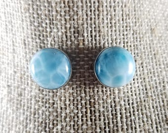 silver natural larimar store sterling s oval set earrings necklace
