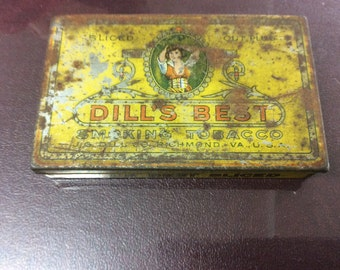 Dills best smoking tobacco tin