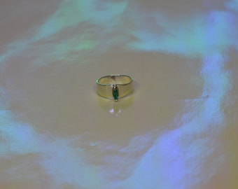 Silver and Emerald Ring