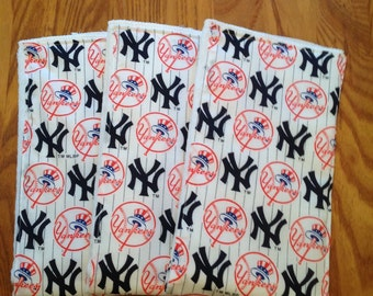 New York Yankees Baby Burp Cloths set of 3