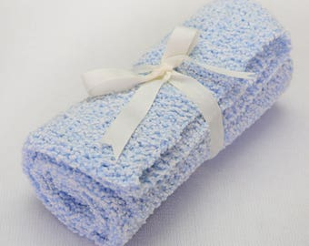 Baby Blanket. Beautiful hand knitted blanket