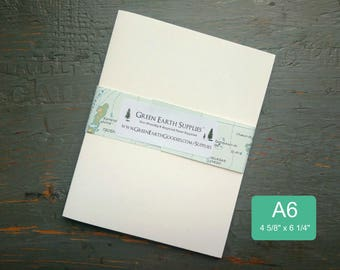 """100 A6 Folded Cards, 100% Recycled Blank Photo/Greeting Cards/Invitations, 4 5/8 x 6 1/4"""", 80-100lb, White or Natural White (Cards Only)"""