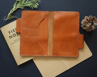 Field notes leather cover with pen holder