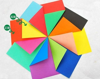 48pcs 6inch x 6inch ( 15cm x 15cm ) double sides different colors craft paper QT011