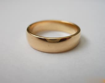 Wide Low Dome Band 14k Gold Filled