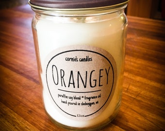 Orange candle / Soy candle / Citrus Candle / Parasoy