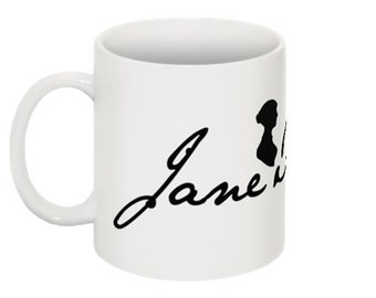 Jane Austen's Signature, wrap around mug