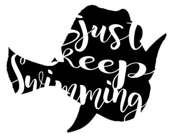 Just Keep Swimming Decal - Dory