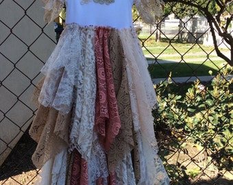 Fairy tattered rag dress