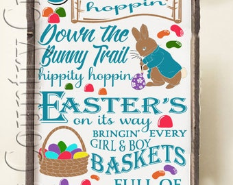 Here comes Peter Cottontail Hoppin   SVG, PNG, JPEG